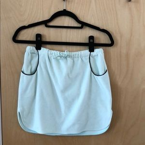 Tocca Terry Cloth Mini Skirt